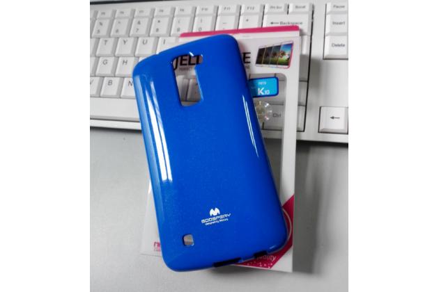 """Ультра-тонкая полимерная из мягкого качественного силикона задняя панель-чехол-накладка для lg k10 / m2 (k410 / k420n / k430n / k430 dual sim lte) 5.3""""  синяя"""