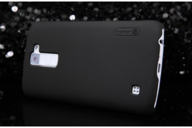 "Задняя панель-крышка-накладка из тончайшего и прочного пластика для lg k10 / m2 (k410 / k420n / k430n / k430 dual sim lte) 5.3""  черная"