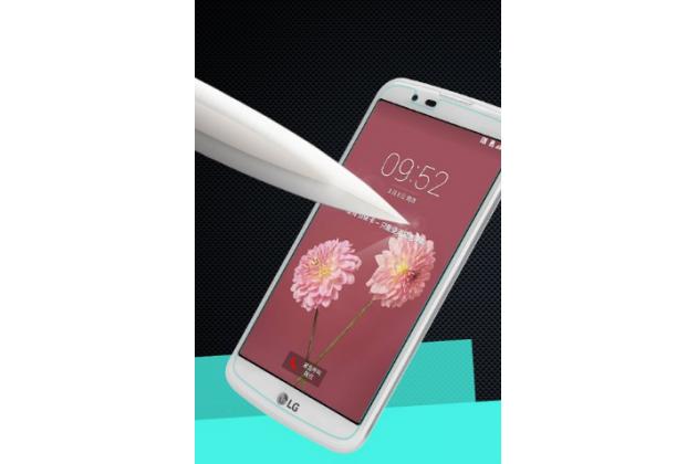 """Защитное закалённое противоударное стекло премиум-класса из качественного японского материала с олеофобным покрытием для телефона lg k10 / m2 (k410 / k420n / k430n / k430 dual sim lte) 5.3"""""""