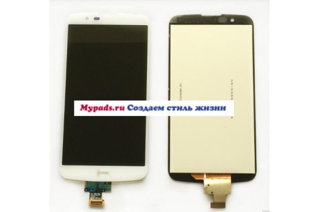 """Lcd-жк-сенсорный дисплей-экран-стекло с тачскрином на телефон lg k10 / m2 (k410 / k420n / k430n / k430 dual sim lte) 5.3""""  белый + гарантия"""