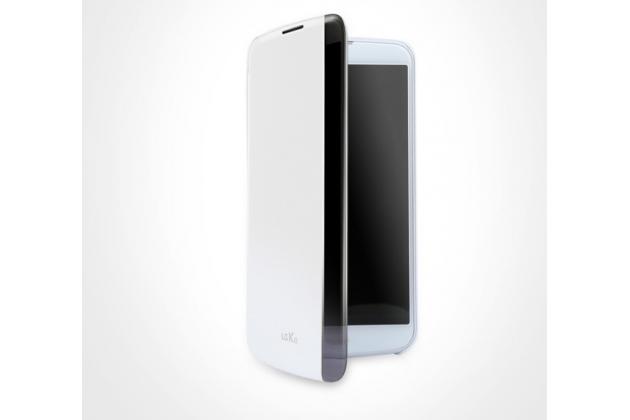 """Чехол-книжка cfv-150 с окном для входящих вызовов для lg k10 / m2 (k410 / k420n / k430n / k430 dual sim lte) 5.3""""  белый"""