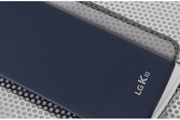 "Чехол-книжка cfv-150 с окном для входящих вызовов для lg k10 / m2 (k410 / k420n / k430n / k430 dual sim lte) 5.3""  синий"