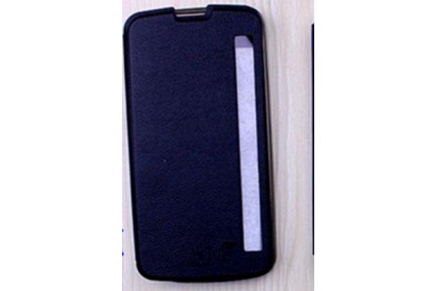 """Чехол-книжка для lg k10 / m2 (k410 / k420n / k430n / k430 dual sim lte) 5.3""""  черный с окошком для входящих вызовов водоотталкивающий"""