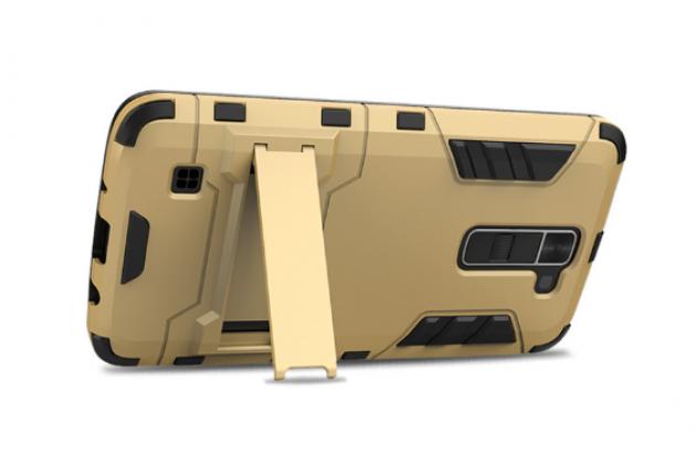 """Противоударный усиленный ударопрочный чехол-бампер-пенал для lg k10 / m2 (k410 / k420n / k430n / k430 dual sim lte) 5.3""""  золотой"""