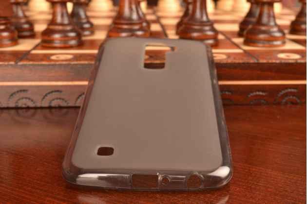 """Ультра-тонкая полимерная из мягкого качественного силикона задняя панель-чехол-накладка для lg k10/ к10 lte k410 / m2 5.3"""" черная"""