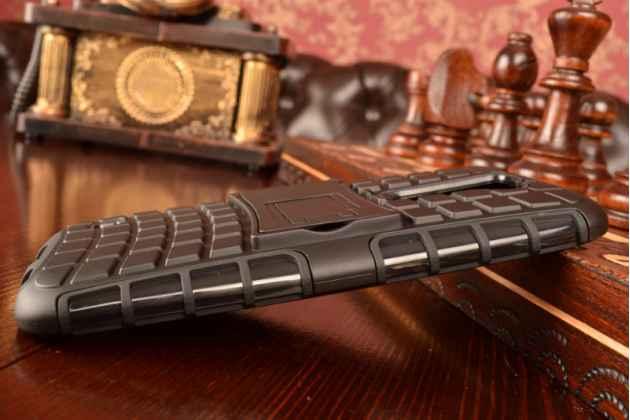 """Противоударный усиленный ударопрочный чехол-бампер-пенал для  lg k10/ к10 lte k410 / m2 5.5"""" черный"""