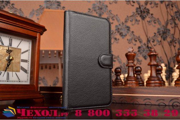 """Чехол-книжка из качественной импортной кожи с подставкой застёжкой и визитницей для элджи ка10 / lg k10/ к10 lte k410 / m2 5.5""""  черный"""