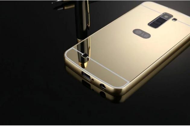 """Металлическая задняя панель-крышка-накладка из тончайшего облегченного авиационного алюминия для lg k10 / m2 (k410 / k420n / k430n / k430 dual sim lte) 5.3"""" золотая"""