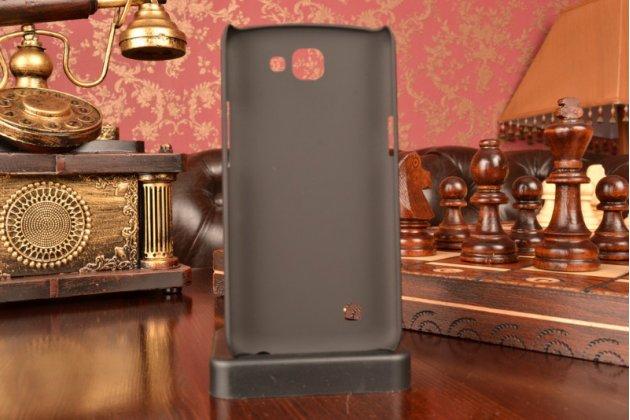 """Задняя панель-крышка-накладка из тончайшего и прочного пластика для lg k4 k120e / k130e / zone 3 (vs425) 4.5"""" черная"""