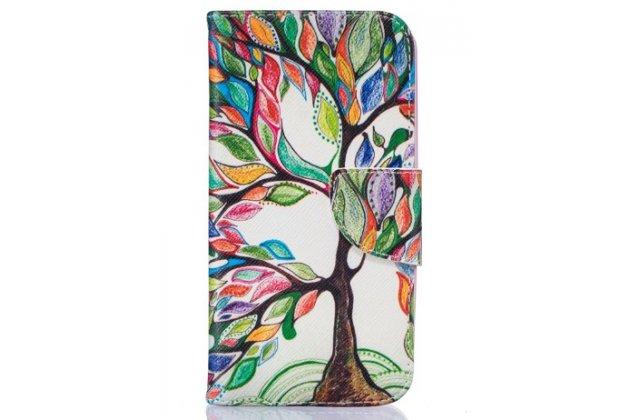 "Чехол-книжка с рисунком на тему ""сказочное дерево"" на lg k5 / q6 (x220ds) 5.0"""