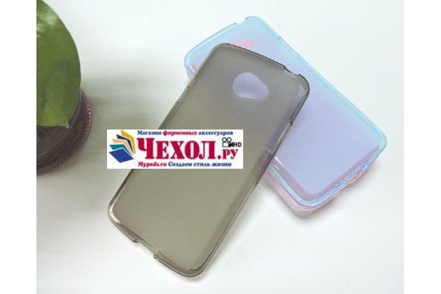 """Ультра-тонкая полимерная из мягкого качественного силикона задняя панель-чехол-накладка для lg k5 / q6 (x220ds) 5.0"""" серая"""