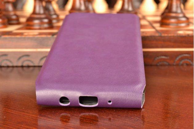 Вертикальный откидной ультра-тонкий чехол-флип для lg tribute 5 / lg k7/ m1 (x210ds) dual sim 5.0 фиолетовый