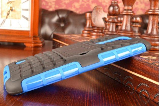 Противоударный усиленный ударопрочный чехол-бампер-пенал для lg tribute 5 / lg k7/ m1 5.0 синий