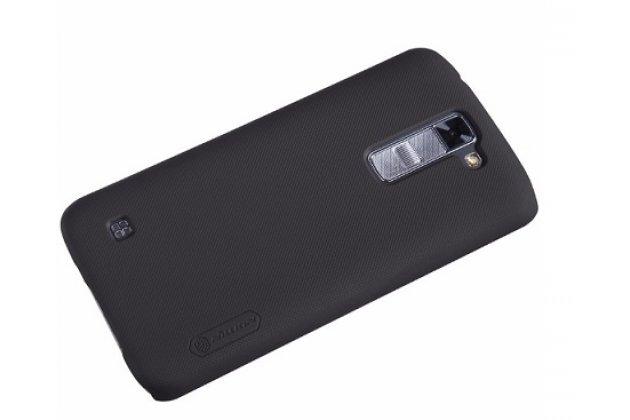 Задняя панель-крышка-накладка из тончайшего и прочного пластика для lg tribute 5 / lg k7/ m1 (x210ds) dual sim 5.0 черная