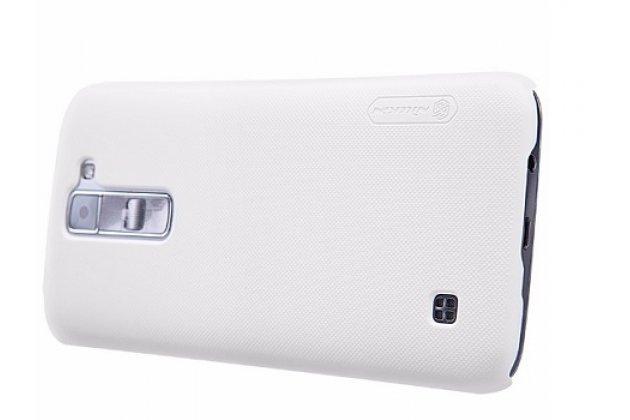 Задняя панель-крышка-накладка из тончайшего и прочного пластика для lg tribute 5 / lg k7/ m1 (x210ds) dual sim 5.0 белая