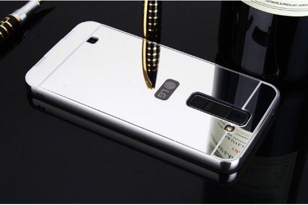 Металлическая задняя панель-крышка-накладка из тончайшего облегченного авиационного алюминия для lg tribute 5 / lg k7/ m1 (x210ds) dual sim 5.0 серебряная