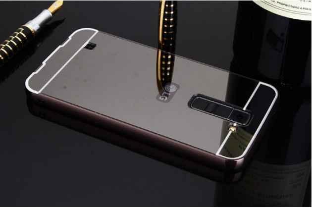 Металлическая задняя панель-крышка-накладка из тончайшего облегченного авиационного алюминия для lg tribute 5 / lg k7/ m1 (x210ds) dual sim 5.0 черная