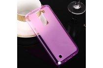 """Ультра-тонкая полимерная из матового силикона задняя панель-чехол-накладка для lg k8 k350n/ k350e 5.0"""" розовая"""