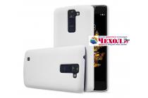 """Задняя панель-крышка-накладка из тончайшего и прочного пластика для lg k8 k350n/ k350e 5.0"""" белая"""