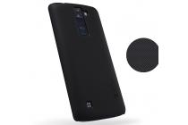 """Задняя панель-крышка-накладка из тончайшего и прочного пластика для lg k8 k350n/ k350e 5.0"""" черная"""