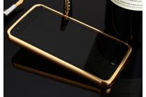 """Металлическая задняя панель-крышка-накладка из тончайшего облегченного авиационного алюминия для lg k8 k350n/ k350e 5.0"""" золотая"""