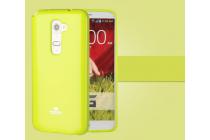 """Ультра-тонкая полимерная из глянцевого блестящего """"мармеладного"""" силикона задняя панель-чехол-накладка для lg k8 k350n/ k350e 5.0"""" зеленая"""