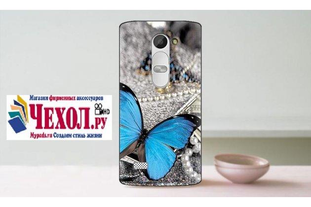 """Необычная уникальная пластиковая задняя панель-чехол-накладка для lg leon h340 """"тематика бабочка"""""""
