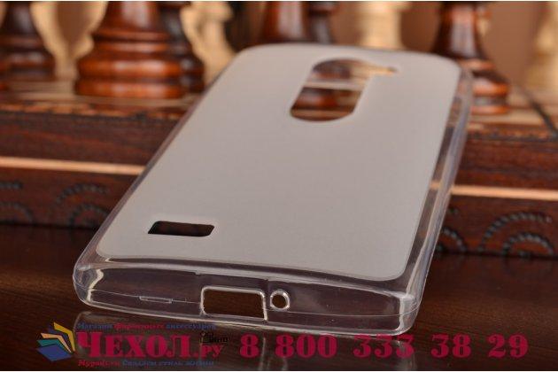 Ультра-тонкая полимерная из мягкого качественного силикона задняя панель-чехол-накладка для lg leon h324 серая