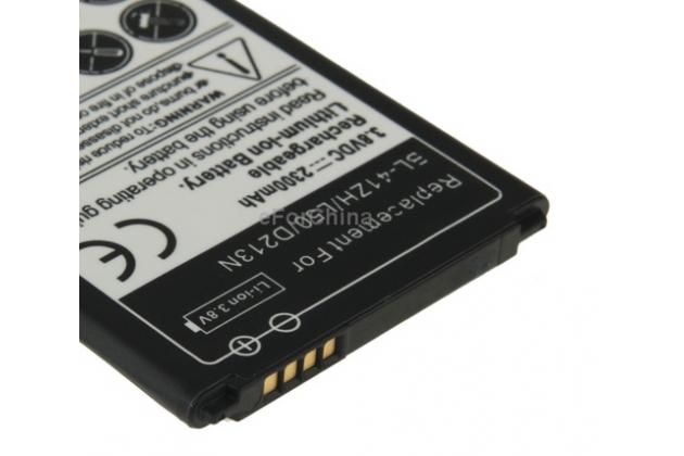 Усиленная батарея-аккумулятор большой ёмкости 2300mah bl-41zh для телефона  lg leon + гарантия