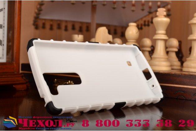 Противоударный усиленный ударопрочный чехол-бампер-пенал для lg magna h502 белый