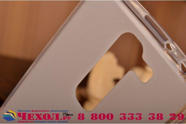 Ультра-тонкая полимерная из мягкого качественного силикона задняя панель-чехол-накладка для lg magna h502  белая