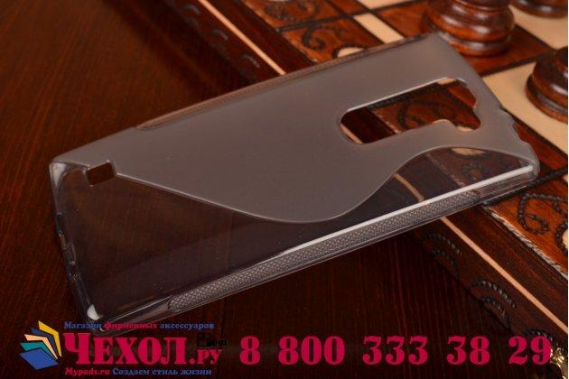 Ультра-тонкая полимерная из мягкого качественного силикона задняя панель-чехол-накладка для lg magna h502  серая