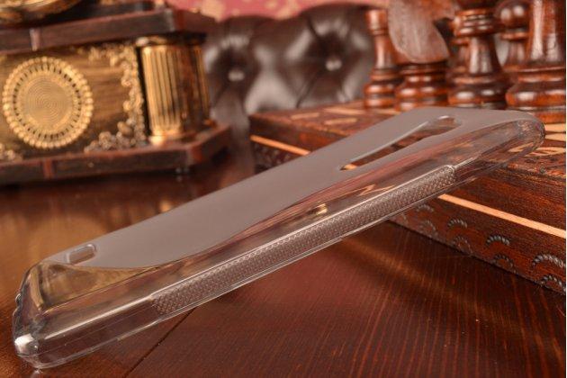 """Ультра-тонкая полимерная из мягкого качественного силикона задняя панель-чехол-накладка для lg ray / lg zone x190 5.5""""  серая"""