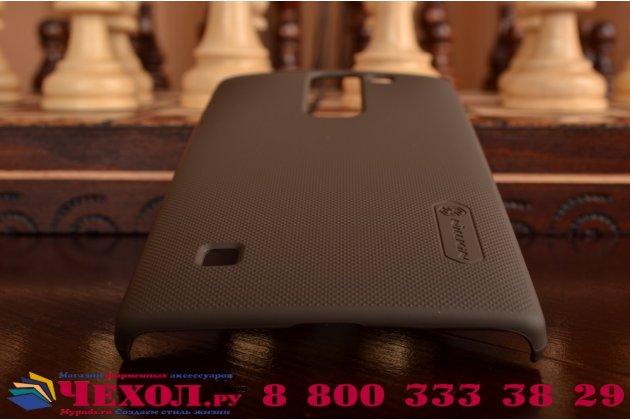 Задняя панель-крышка-накладка из тончайшего и прочного пластика для lg spirit h422/ h440y коричневая
