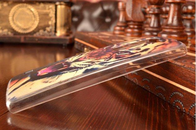 """Необычная уникальная пластиковая задняя панель-чехол-накладка для lg spirit h422 / h420 """"тематика тигр"""""""