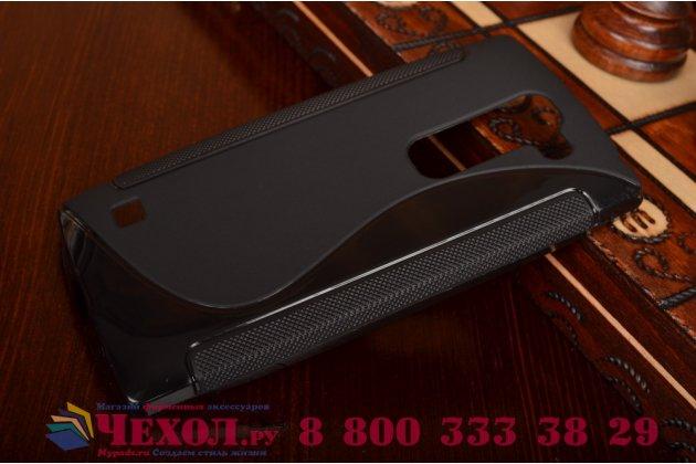 Ультра-тонкая полимерная из мягкого качественного силикона задняя панель-чехол-накладка для lg spirit h422/ h440y черная