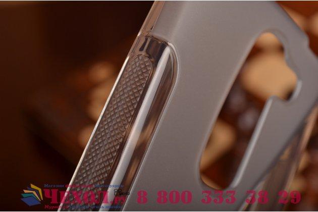 Ультра-тонкая полимерная из мягкого качественного силикона задняя панель-чехол-накладка для lg spirit h422/ h440y серая