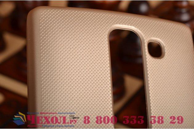 Задняя панель-крышка-накладка из тончайшего и прочного пластика для lg spirit h422/ h440y золотая
