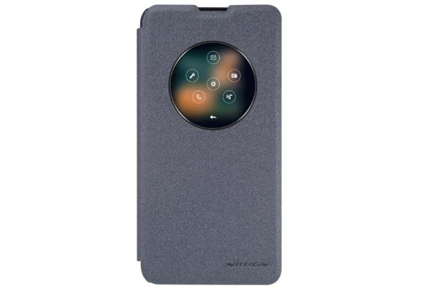 """Чехол-книжка для lg x view lgk500ds / x screen k500y 4.93"""" с функцией умного окна (фонарик, плеер, аналоговые часы) черный"""