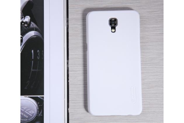 """Задняя панель-крышка-накладка из тончайшего и прочного пластика для lg x view lgk500ds / x screen k500y 4.93"""" белая"""