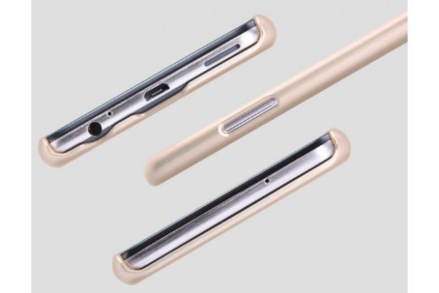 """Задняя панель-крышка-накладка из тончайшего и прочного пластика для lg x view lgk500ds / x screen k500y 4.93"""" золотая"""