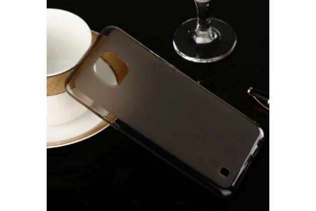 Ультра-тонкая силиконовая задняя панель-чехол-накладка для lg x cam k580ds 5.2 черная