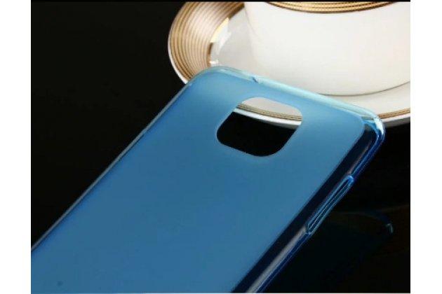 Ультра-тонкая силиконовая задняя панель-чехол-накладка для lg x cam k580ds 5.2 голубая