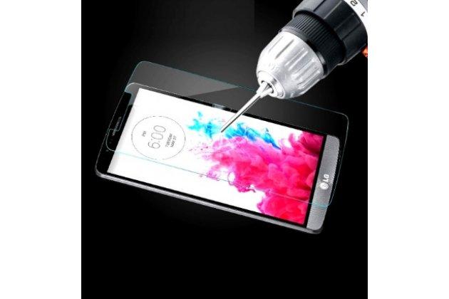 Защитное закалённое противоударное стекло премиум-класса из качественного японского материала с олеофобным покрытием для телефона  lg x cam k580ds 5.2