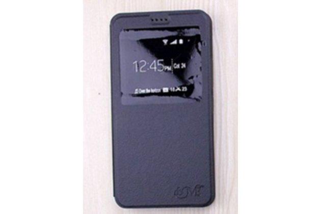 Чехол-книжка для lg x cam k580ds 5.2 черный с окошком для входящих вызовов водоотталкивающий