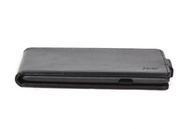 Вертикальный откидной ультра-тонкий чехол-флип для lg x cam k580ds 5.2 черный