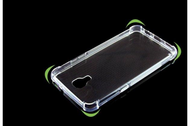 """Ультра-тонкая полимерная из мягкого качественного силикона задняя панель-чехол-накладка для lg x view lgk500ds / x screen k500y 4.93"""" прозрачный"""