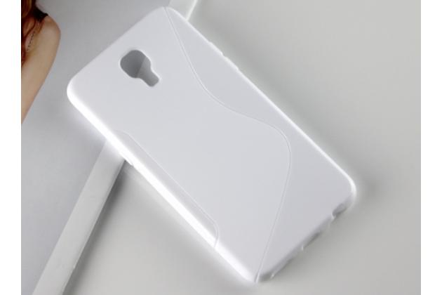 """Ультра-тонкая полимерная из мягкого качественного силикона задняя панель-чехол-накладка для lg x view lgk500ds / x screen k500y 4.93"""" белая"""