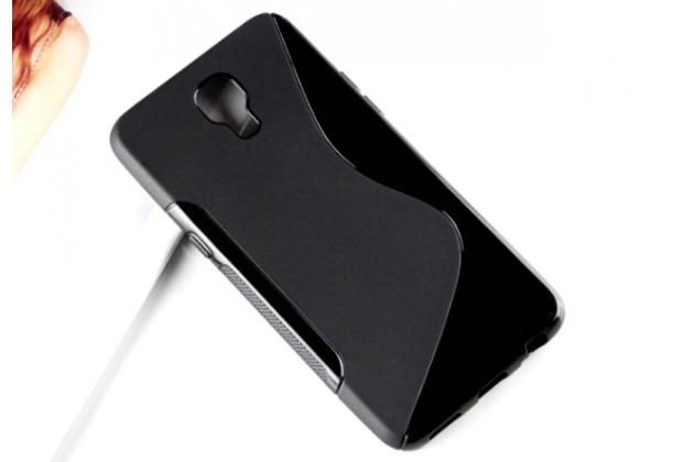 """Ультра-тонкая полимерная из мягкого качественного силикона задняя панель-чехол-накладка для lg x view lgk500ds / x screen k500y 4.93"""" черная"""