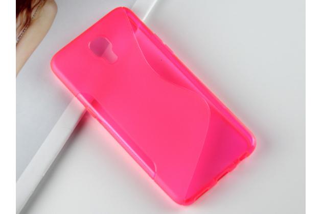 """Ультра-тонкая полимерная из мягкого качественного силикона задняя панель-чехол-накладка для lg x view lgk500ds / x screen k500y 4.93"""" розовая"""